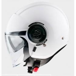 MT helmets Viale SV casco moto bianco jet con occhialino solare