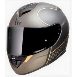 MT helmets Rapide revival nero oro opaco casco integrale