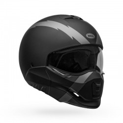 Bell Moto casco integrale jet Broozer Arc nero opaco silver
