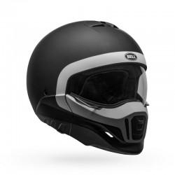 Bell Moto casco integrale jet Broozer Cranium nero opaco bianco