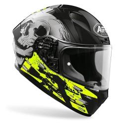 Casco Airoh Valor Akuna yellow integrale moto helmet grafica