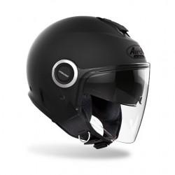 Casco Airoh jet Helios nero opaco moto scooter