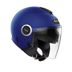 Casco Airoh jet Helios blu opaco moto scooter