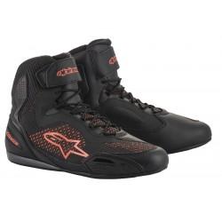 FASTER-3 Alpinestars scarpe tecniche moto colore nero-rosso fluo