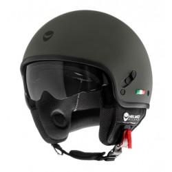 Helmo Milano casco jet Puro verde opaco helmet casque
