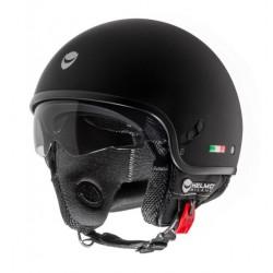 Helmo Milano casco jet Puro black matt helmet casque