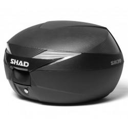 Shad bauletto SH39 carbon moto scooter litri 39 con piastra universale