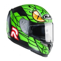 Hjc casco casque integrale Rpha-10 plus Lorenzo Green Mamba MC4FS
